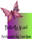 blog award butterfly