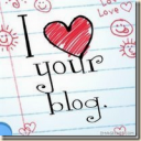 I Love Your Blog button
